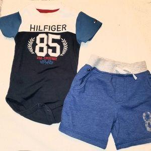 Tommy Hilfiger 2 piece set 12 to 24 months